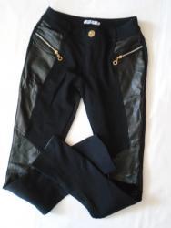 Pantalone helanke sa detaljima od eko kože, imaju 5% elastina. - Belgrade