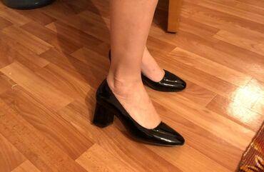 Туфли лакированные, разм 37, одеты 2 раза, почти новые, находимся в 8