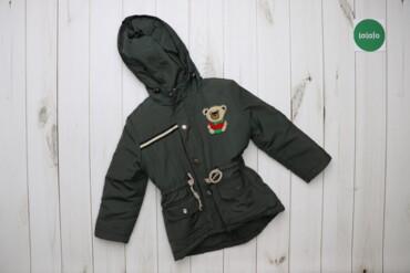 Дитяча тепла куртка з ведмедиком    Довжина: 50 см Ширина плеча: 33 см