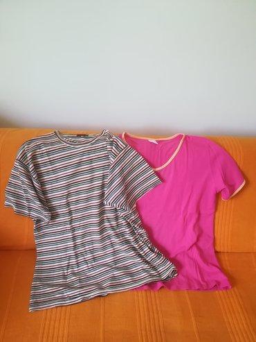 Dve pamučne majice kratak rukav vel 50, obe za 600 din, obim grudi