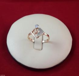 Кольцо из красного золота 585 проба размер 17. 5 в Бишкек