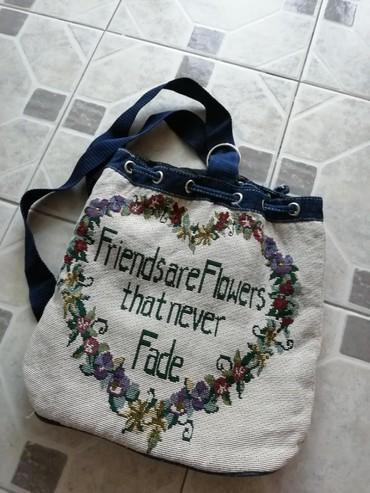 Pleteni ranac sa cvetnim dezenom - Obrenovac