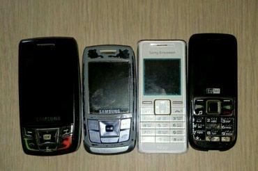 Bakı şəhərində Gencede. 4 eded köhne model telefonlar. Xarablığını bilmirem.