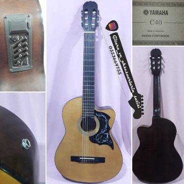 Bakı şəhərində Yamaha c40 elektro klassik 4 bandlı ekvolazerli klassik gitara barter