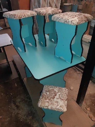 стол на кухню раскладной в Кыргызстан: Кухонный Стол табуретка 3000сом+Доставка расцветка много Дилина стола