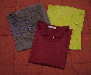 3 μπλούζες (καφέ - κίτρινο - μπορντό), size σε Kamatero