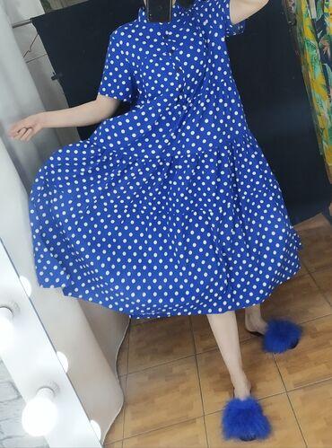 Яркое платье по акции - Оверсайз (подходит на 42-48 р-р), идеально