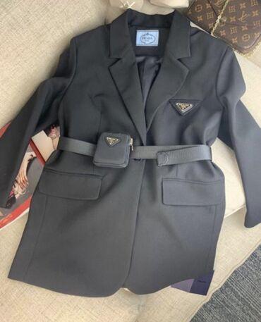 Пиджак Prada (новый), чёрный, качество люкс. Первая копия, швы ровные