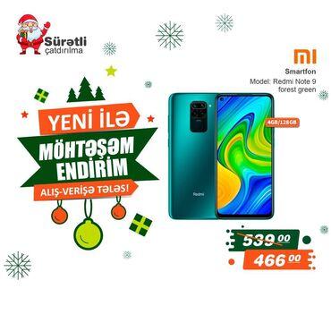 kabura xiaomi redmi 5a - Azərbaycan: Yeni Xiaomi Redmi Note 9 64 GB yaşıl