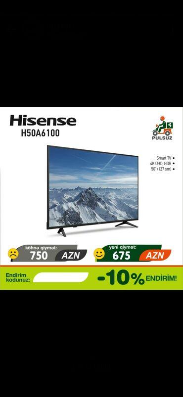 675 azn 127 ekran 50 inch dioqanal tv smart 4k hd hdr catdirilmasi