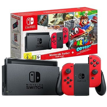 Nintendo Switch Gaming Console & Super Mario Odyssey Game