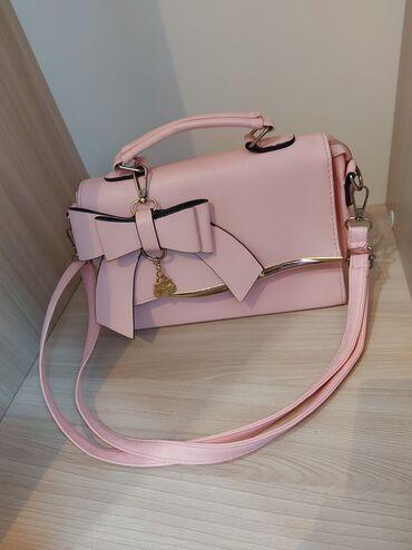 Аксессуары - Лебединовка: Сумочка светло розового цвета, среднего размера, носила пару раз