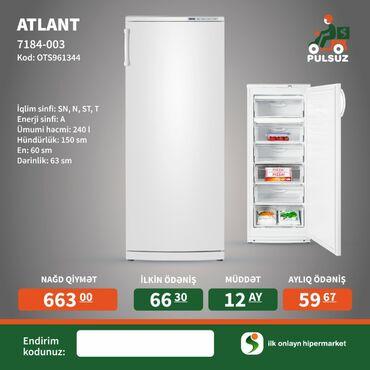kredite avtomobiller в Азербайджан: Новый Двухкамерный холодильник Atlant