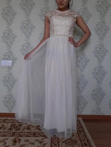 Платье молочного цвета,одевали один раз на выпускной цена 1000сом в Бишкек