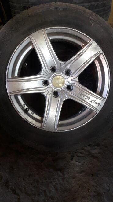 шины 205 65 r16 в Кыргызстан: Продаю диски с шинами r16 5/114 есть варенные