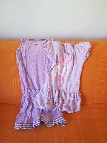 Dve pamučne haljine za leto obe za 1000 din vel 12 obim grudi 64 cm