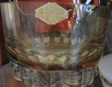 термостат ваз в Азербайджан: Ваза золотистая (хрусталь)