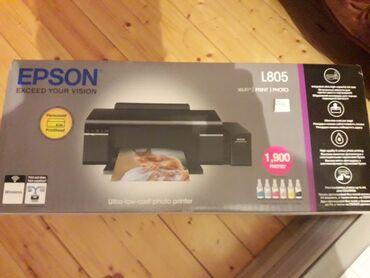 studiya - Azərbaycan: Epson L805 rengli printer.Tep tezedir.Karopkasi bele acilmayib.Alacaq