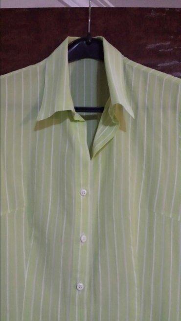 Zelena košulja sa belim prugama, jednom nošena, kao nova, bez - Velika Plana
