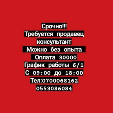 Баяндар кыргызча - Кыргызстан: Сатуучу консультант. Təcrübəli. 6/1
