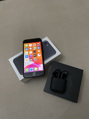apple iphone 4 32gb в Кыргызстан: Б/У iPhone 7 128 ГБ Черный