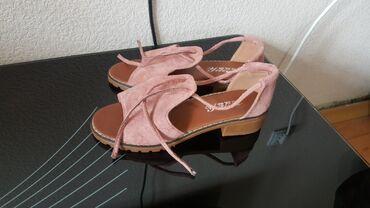 Сандали обувь размер 38 новые замш туфли
