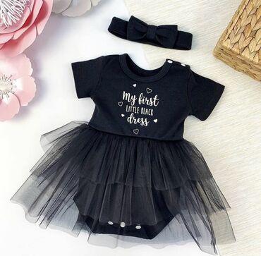 Милые вещички для самых маленьких, размеры уточнять Чёрное платье 1300
