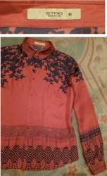 Svilena kosulja - Srbija: Etro original prelepa svilena kosulja, 100% svila. Boja ciglw, sa