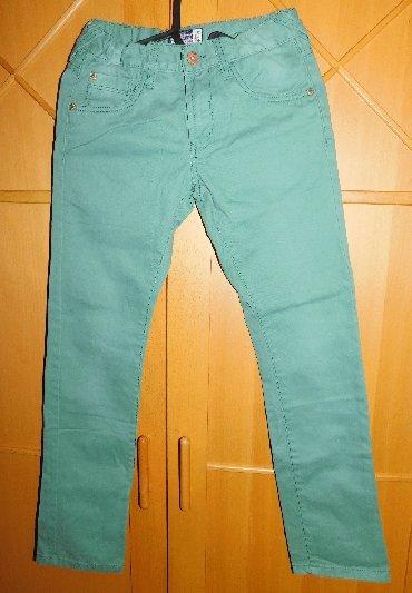 Icine-za-visinu - Srbija: C&A pantalone, pamucne, lepe zelene boje, za visinu deteta 146 cm