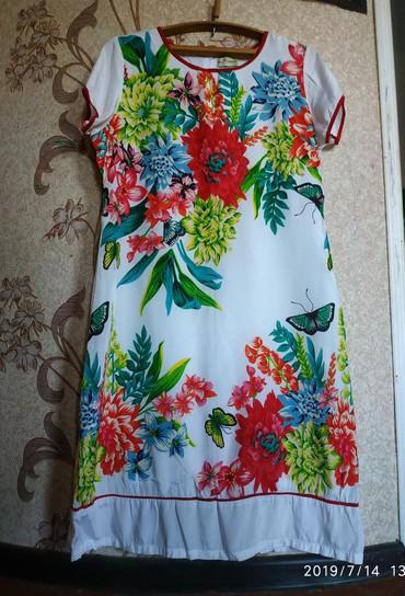 длинное белое платье в Кыргызстан: Платье натуральный шелк подклад хлопок, Италия, разм 50 полноценный