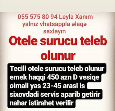 kisilr uecuen torskilli krossovkalar - Azərbaycan: Otelə sürücü tələb olunur
