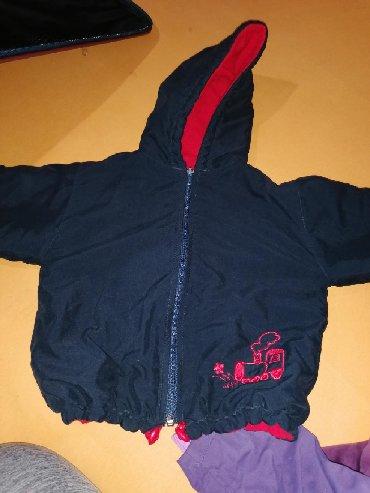 Dečije jakne i kaputi | Velika Plana: Jaknica za decaka, teget plava sa crvenom postavom unutar jakne