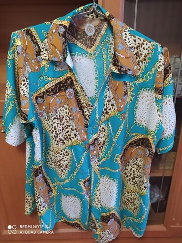 блузки-рубашка в Кыргызстан: Рубашка штапель.Разм.58-60.Сост отл
