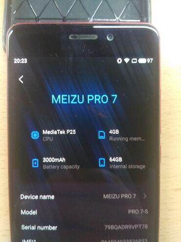 Семейный пар бишкек - Кыргызстан: Meizu Pro 7 | 64 ГБ | Красный Б/у | Сенсорный, Отпечаток пальца, Две SIM карты