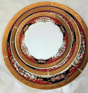 тарелка блюдце в Кыргызстан: Набор красивой посуды, с позолотой. Чайник большой1шт. 70 предметов вс