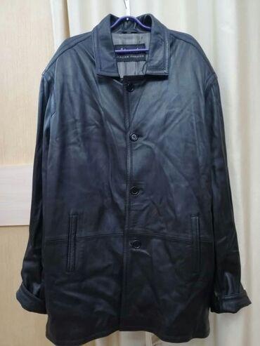 женское платье 54 в Кыргызстан: Мужская удлиненная кожанная куртка.размер XXXXL(54-56)Турция.Чёрная