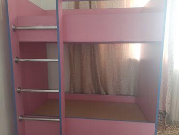 Детский мир - Тынчтык: Продаю детскую двух ярусную кровать в отличном состоянии!! Для детей