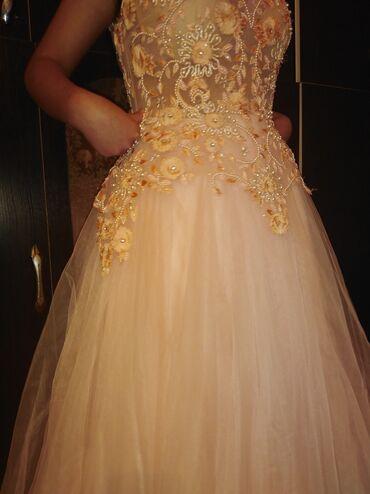персиковое платье на свадьбу в Кыргызстан: Вечернее платье или той узатуу можно как на свадьбу свет нежно персико