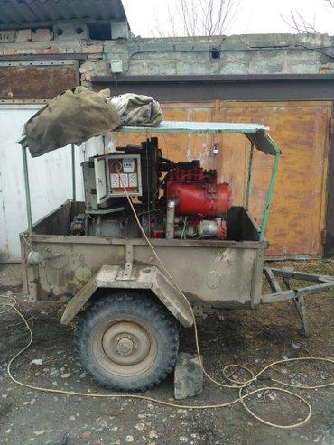 продаю генератор вместе с уазовским прицепом  3х фазный 10квт  почти н в Бишкек