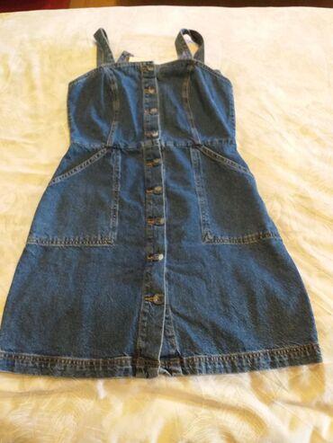 Ženska odeća | Borca: Haljina Džins Nova ne korišćeno iz Uvoza vrhunski kvalitet broj 36,38