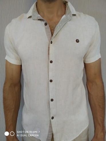 Рубашка Лен, 46-48р в отличном качестве и в Бишкек