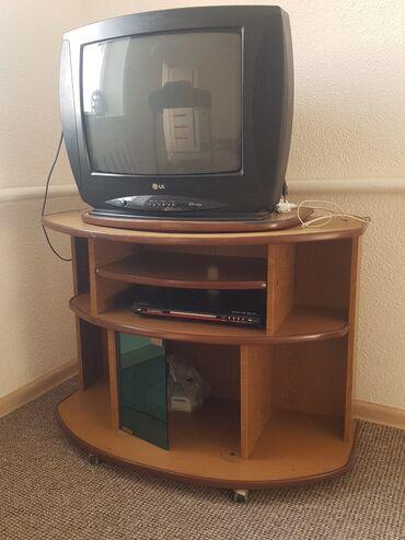 Электроника - Ала-Тоо: Продаю телевизор с подставкой + DVD в подарок. Последний раз