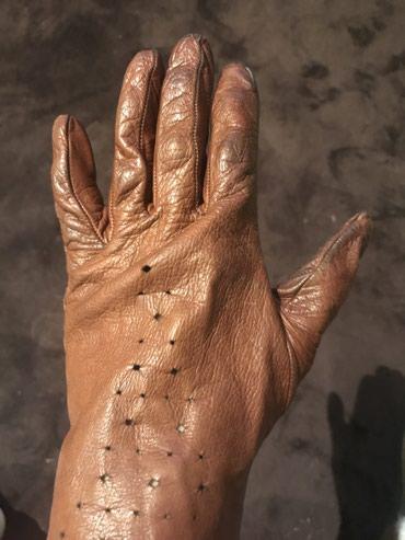 Braon zenske kozne rukavice velicina M !!!! - Belgrade