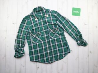 Красивая женская рубашка в клетку от бренда Zara,р.M Длина: 62 см Рука