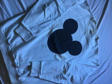 Muški Duksevi | Loznica: Duks sa printom miki mausa Bez kapuljaceBele boje Nosen svega dva ili