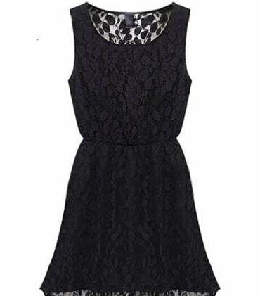 Μίνι μαύρο φόρεμα δαντέλα