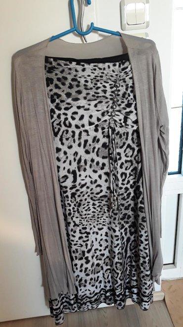 Haljina-please-italy - Srbija: Tigrasta Top haljina + kardigan capuccino vel.XL Italy