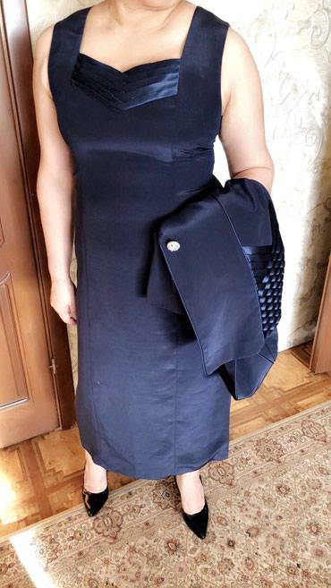 Платье с пиджаком. Турция! Размер 50-52. Цвет синий. в Бишкек