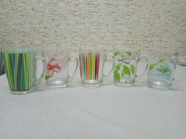 Чашки Люминарк 5 штук использовались несколько раз в Bakı