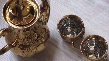 Высокий чайник и 2 чашки. в Бишкек
